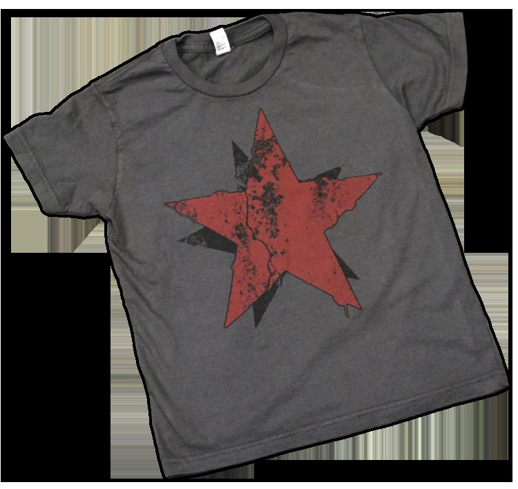 Distressed Star Kids T Shirt Size 8 Unknown Artifact